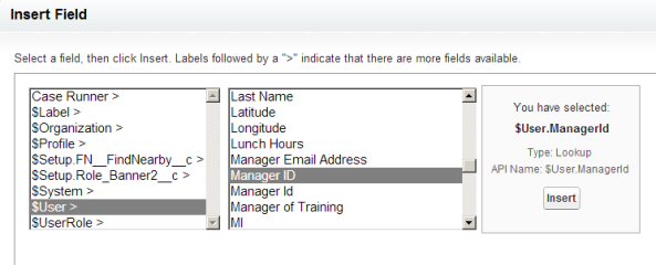 Nope, no Manager >> present. I had to make the Manager Email Address field!